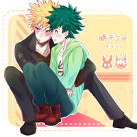 Bakugou with Deku by joycep6b15