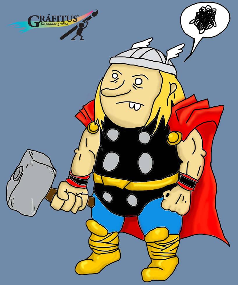 Caricatura Thor By Rudolf89 On Deviantart