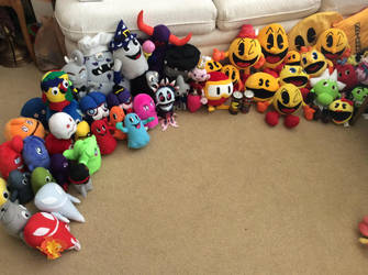 My PacMan Plush Collection by LuigiFan00001
