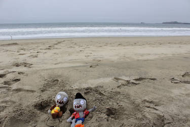 Zombies on the Beach by LuigiFan00001