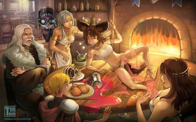 Dinner On Table - SFW version by tireimisu