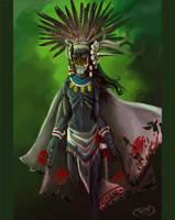 Mictlantecuhtli by drgn-skull05