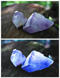 Before and After of Soul Gems by VelvetRedBullet
