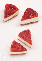 Cherry Cheesecake earrings by BadgersBakery
