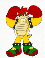 Bowser  (Kyrogk Universe Style) IN COLOR! by DigiBowser