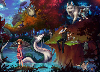 Ghibli_Miyazaki_Tribute by Unodu