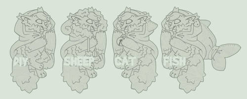 Hooded werewolf lineart adopt (pay to use) by Shegoran