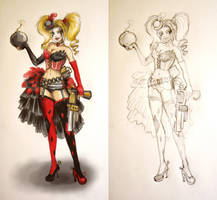 Harley Quinn Burlesque by selewyn