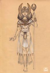 Egyptian girl by selewyn