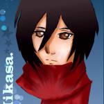 Mikasa Ackerman by DudeImmaGirl