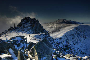 Glyder Fach and Glyder Fawr by oboh