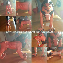 1994 Mattel TLK Scar Action Figure by KyoukoEevee13