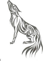 Tribal Wolf by InsanitysBlessing