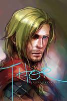 Thor by Haining-art
