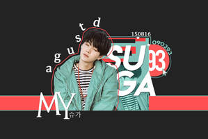 Wallpaper SUGA | #1YearWithAgustD by ZomiDragneel