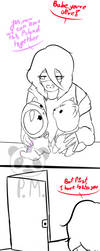 ~You Saw NOTHING~ by PandycornMoustahced