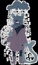 OTA // OPEN // pensive emoji sewer rat by PIGEON-POT-PIE