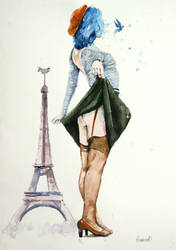 Parisian girl (the artiste, Lora Zombie) by Howard0
