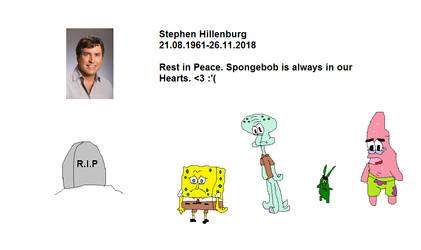 Rest in Peace, Stephen Hillenburg! by Kiro-Kurusu