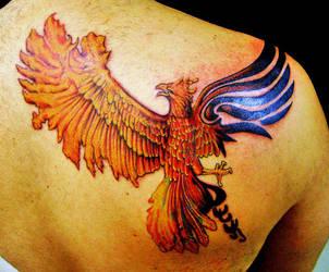 Tribal Phoenix by TimboTattoo