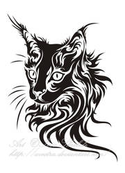 Cat Head Tribal by Avestra