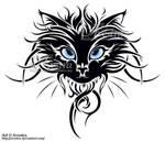 Cat Head Tribal Tattoo by Avestra