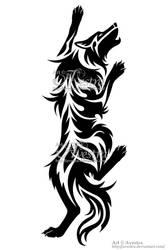Climbing Wolf Tattoo by Avestra