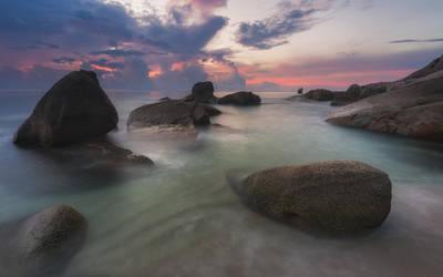 Rocky beach by TomazKlemensak