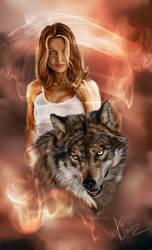 Wolfs And She by NarikoIX