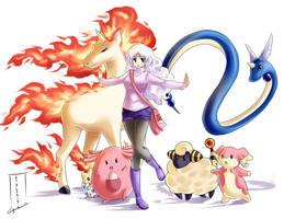 Pokemon trainer Shirin by littleriyu