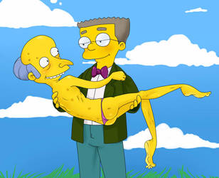 Smithers/Mr. Burns by volkradugi