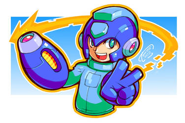 DrawMegamanDay #2017 by Tomycase