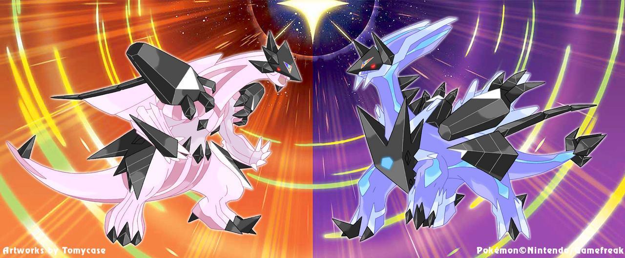 Necrozma Infection : Palkia and Dialga by Tomycase