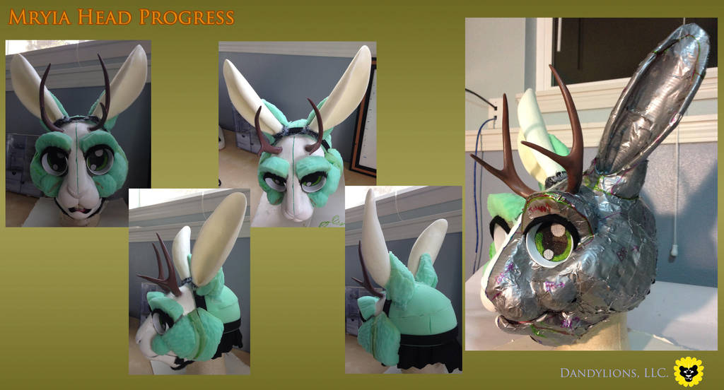 Mryia Head Progress Shots by DandylionsLLC