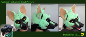 Realistic Timberwolf Preview by DandylionsLLC