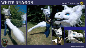 White Dragon Partial by DandylionsLLC