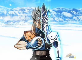 Goku Kakashi Fusion Ultra Instinct by nourssj3
