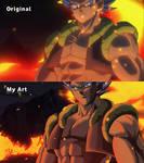 Gogeta Blue Dragon Ball Super Broly Movie Compare by nourssj3