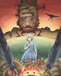 Howl's Moving Castle by Sitamonster