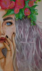 Flower Girl by DaedraPrincess25