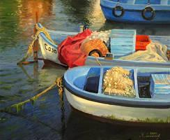 Fishing Boats - Etude by kirilart