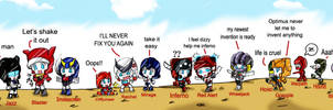 Autobots Chibi_Roll Out_ by BloodyChaser