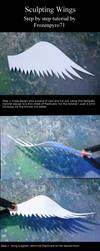 Sculpting wings tutorial by frozenpyro71