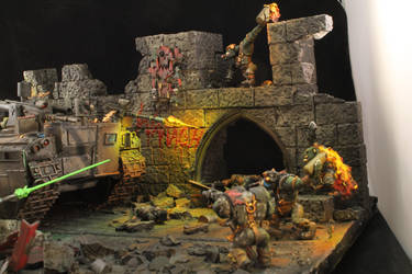 Ghosts in the Rubble - attacking Orks by not-Santa