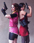 Claire Redfield Ada Wong  Resident Evil 2 Cosplay by HopeHavoc