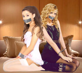 Ariana Grande and Taylor Swift Bound and Gagged by Goldy0123