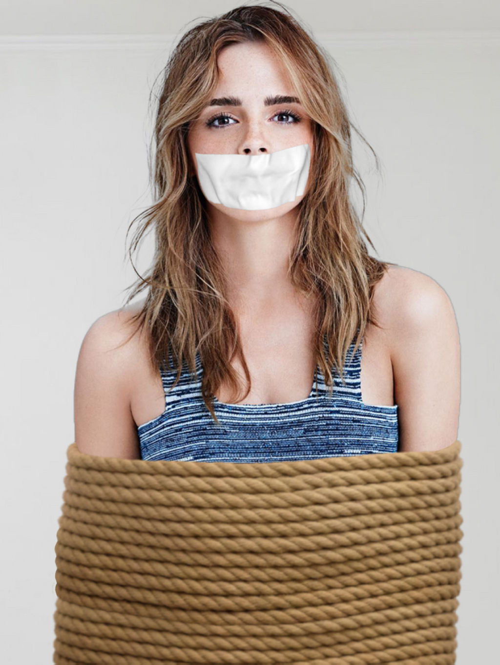 Emma Watson Rope Tied Tape Gagged by Goldy0123 on DeviantArt