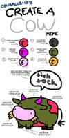 Cow meme by alphabetsoup314