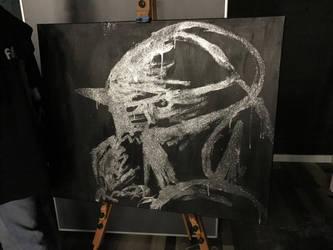 Alphonse Glitter painting by AmyChoppies