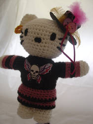 Hello Kitty - Emo Goth Kitty by Lady-Nocturna
